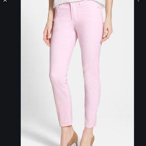 NYDJ Clarissa Pink Stretch Skinny Ankle Jean